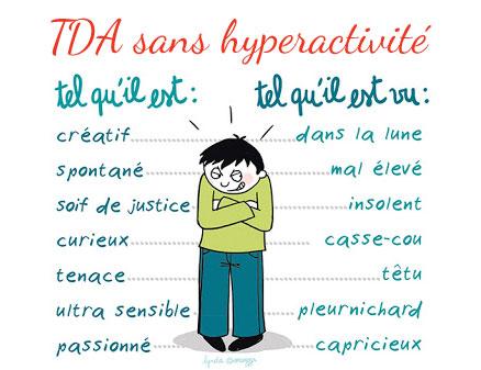 TDA sans hyperactivité