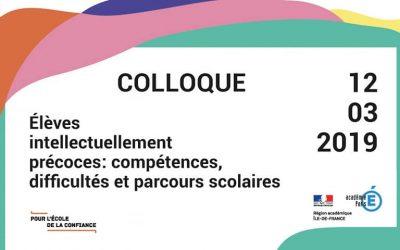 Colloque sur les Enfants à Haut Potentiel le 12/3/2019 à la Sorbonne, j'y serai