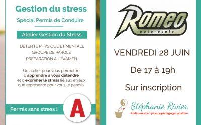 Atelier Gestion du Stress à l'auto-école Roméo – Juvisy sur Orge