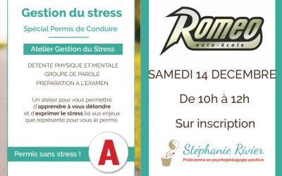 Retour sur les ateliers Gestion du Stress à l'auto-école Roméo – Juvisy sur Orge